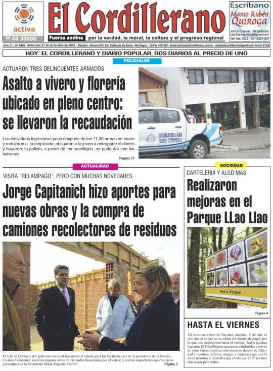 El diario de Bariloche